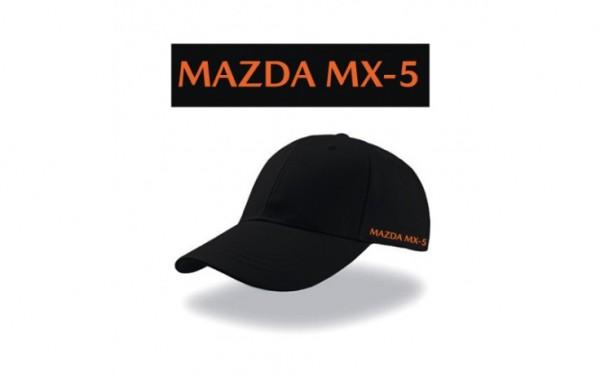 Mazda MX-5 Basecap schwarz/orange