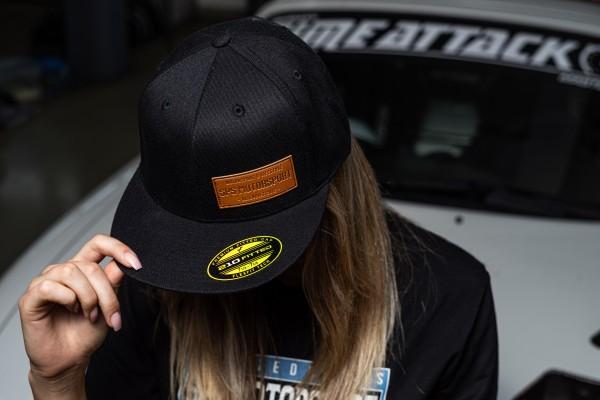 Cap Schwarz mit Kunstleder Patch SPS Motorsport