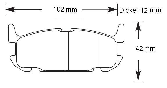 HAWK Bremsbeläge HT-10 hinten MX-5 NBFL 276mm
