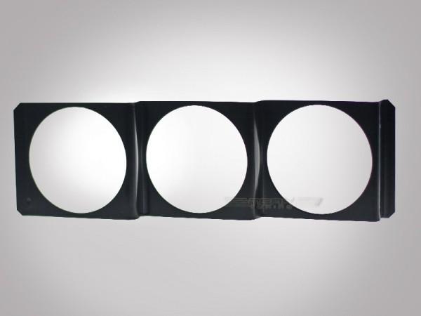 3-fach Instrumentenhalter für Radio DIN Schacht