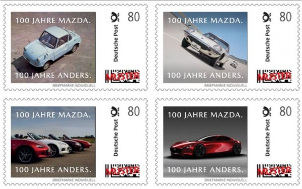 "Stamp set special edition ""100 years of mazda"""