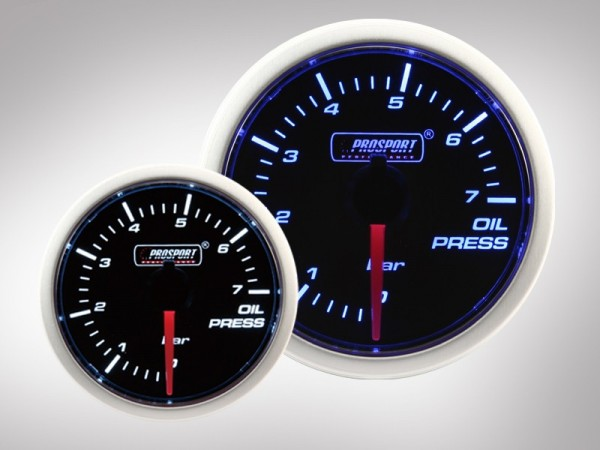 Öldruckanzeige BF Performance blau/weiß 52mm