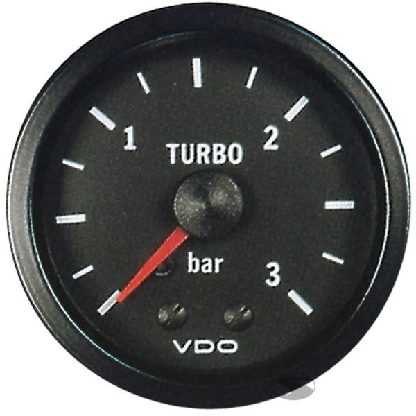 VDO Ladedruckanzeige Messbereich 0-3 bar 52mm