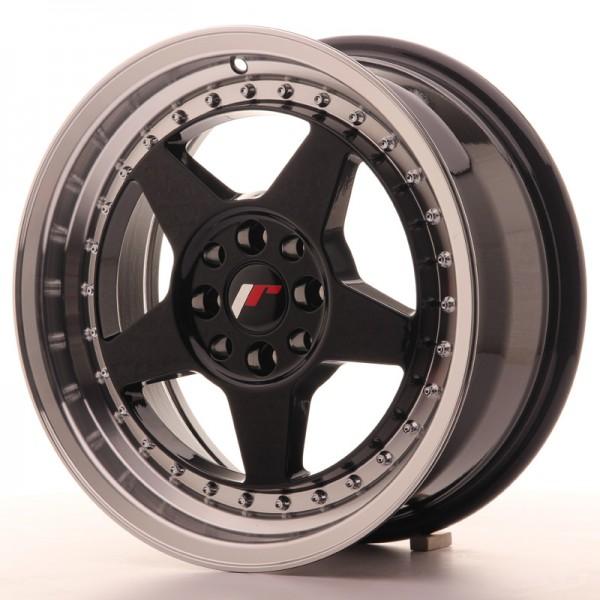 JR6 16x7 ET25 4x100/108 Glossy Black