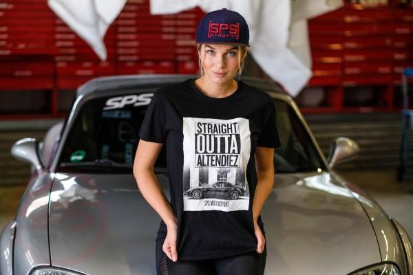 """T-Shirt """"Straight Outta Altendiez"""" blauer NC Rennwagen"""
