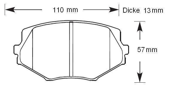 HAWK Bremsbeläge HPS vorne NA/NB/NBFL 255mm
