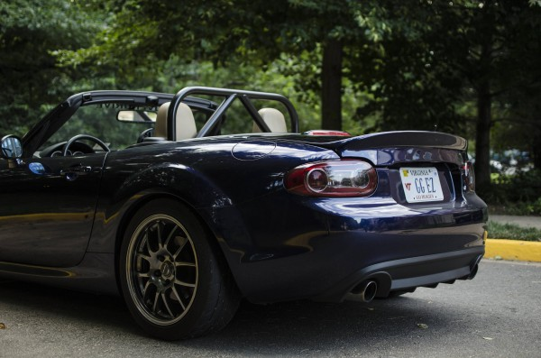 CarbonMiata Heckklappe mit Ducktail Softtop NC
