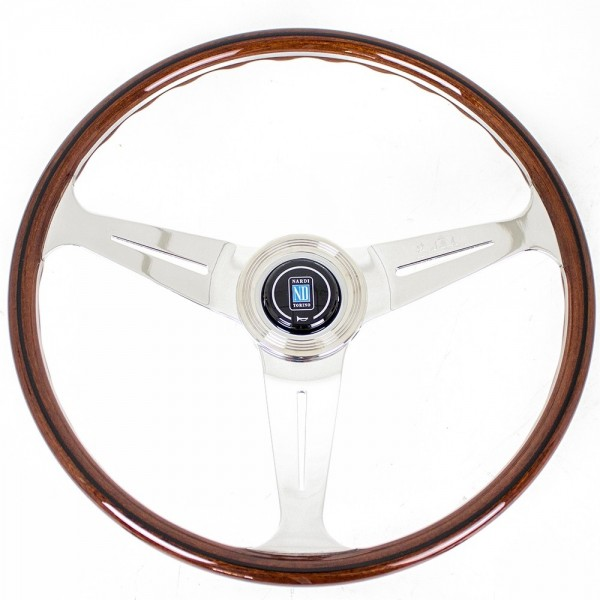 Nardi Classic with 21mm Grip - Wood with Polished Spokes - 390mm