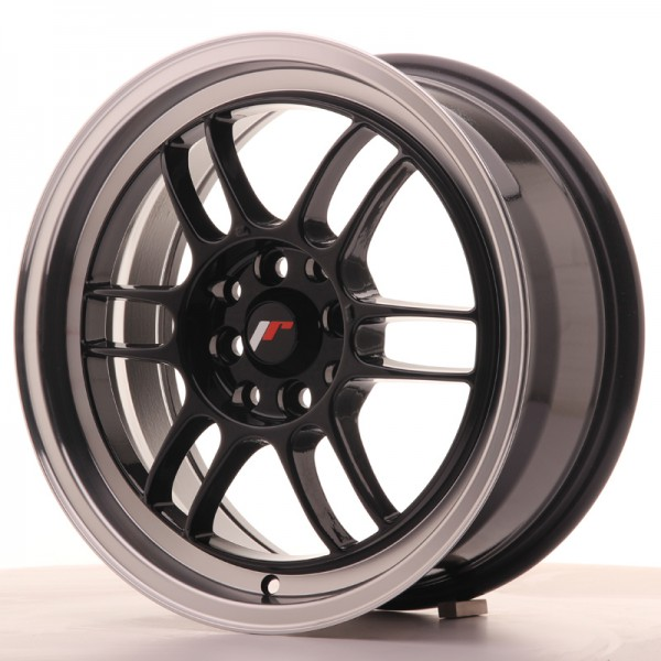 JR7 16x7 ET38 4x100/114 Gloss Black