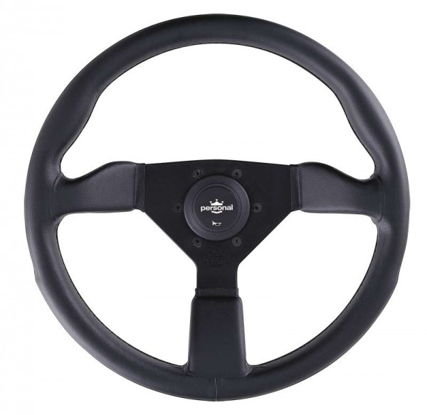 Nardi Personal Grinta Leather Black Spokes Black Stitching 350mm
