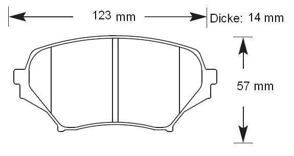 HAWK Bremsbeläge HT-10 vorne MX-5 NC