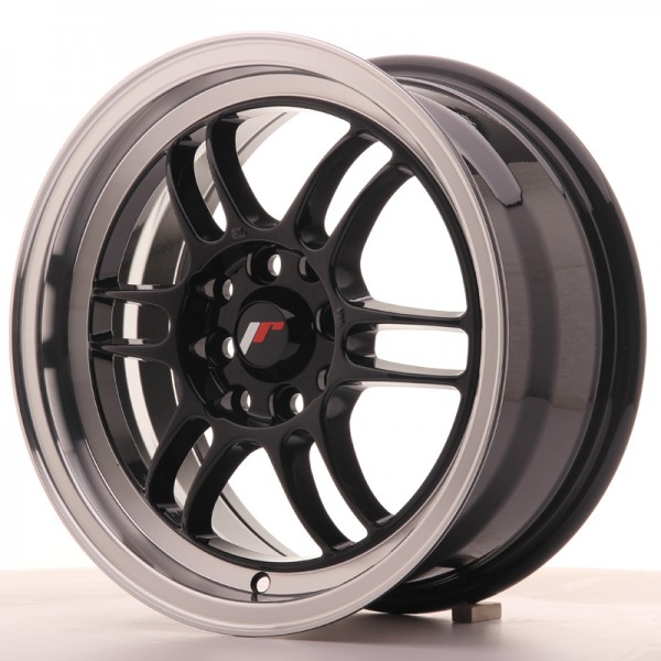 JR7 15x7 ET38 4x100/114 Gloss Black