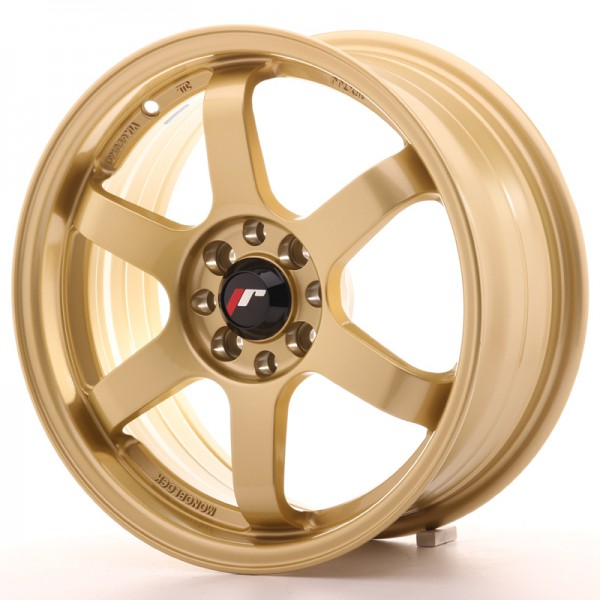 JR3 16x7 ET25 4x100108 Gold