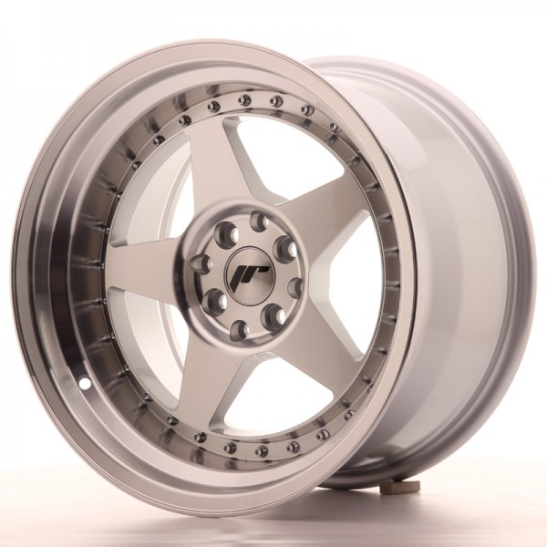 JR6 17x10 ET20 4x100/114 Machined Sil
