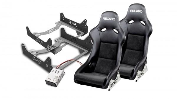 Sitzpaket mit Recaro Pole Position Kunstleder/Dinamica MX-5 NBFL