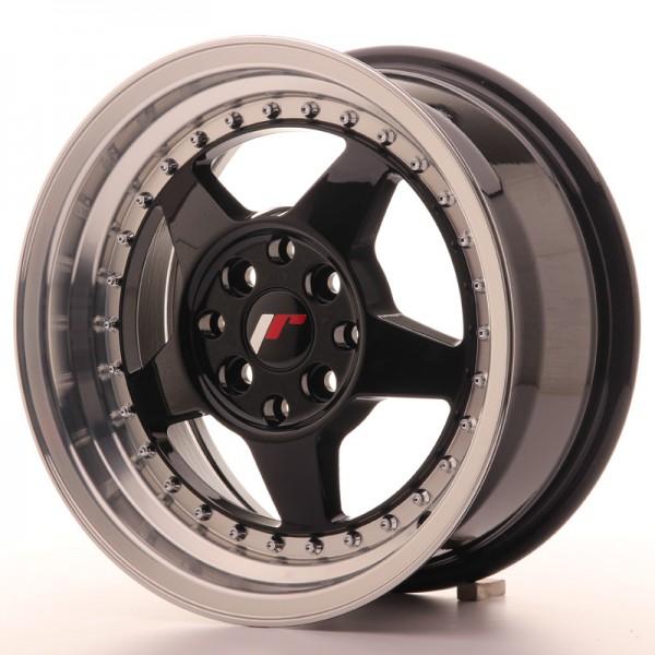 JR6 15x7 ET25 4x100108 Glossy Black
