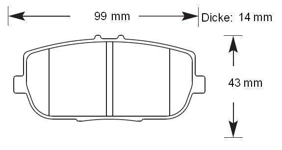 HAWK Bremsbeläge HT-10 hinten MX-5 NC