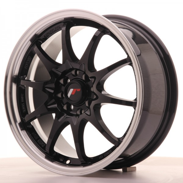 JR5 16x7 ET30 4x100108 Gloss Black