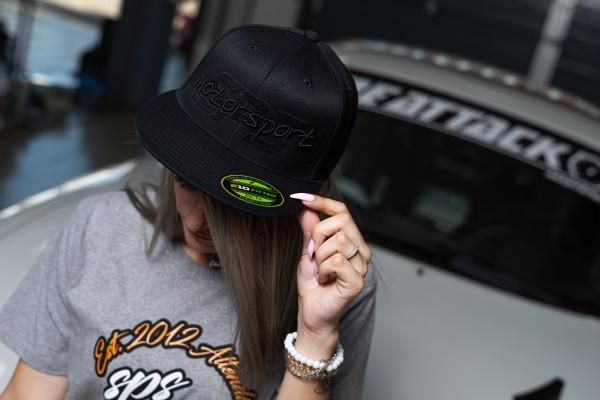 Cap Schwarz mit schwarzer Schrift SPS Motorsport