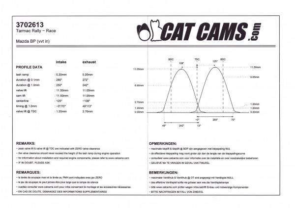 Camshaft set NB 1.8 VVT naturally aspirated stage 3