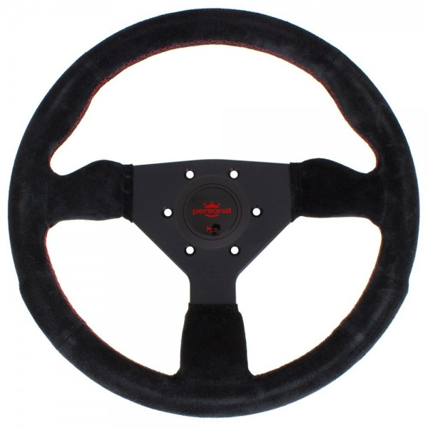 Nardi Personal Neo Grinta Suede Red Stitching Black Spokes 350mm